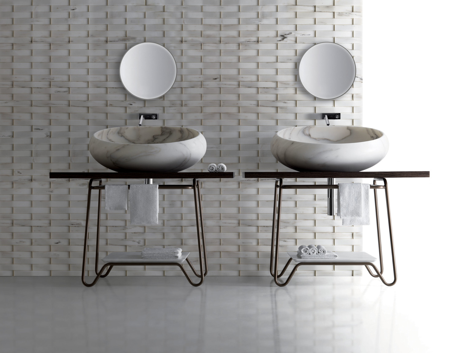 Lavabi in marmo per il bagno di Kreoo